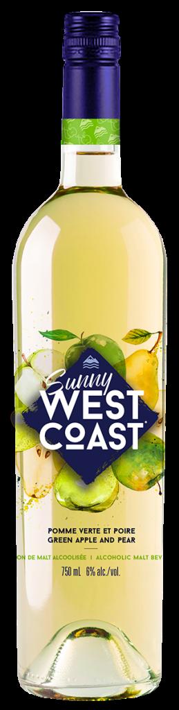 Bouteille de 750 mL de Sunny West Coast pomme verte et poire